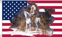 USA INDIAN CHIEF - 8 X 5 FLAG